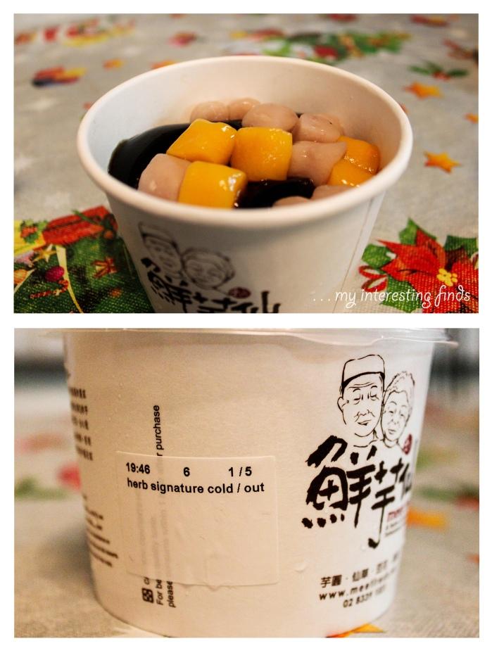 Herbal Signature  (Cold: Herbal ice + Taro balls + Cream)