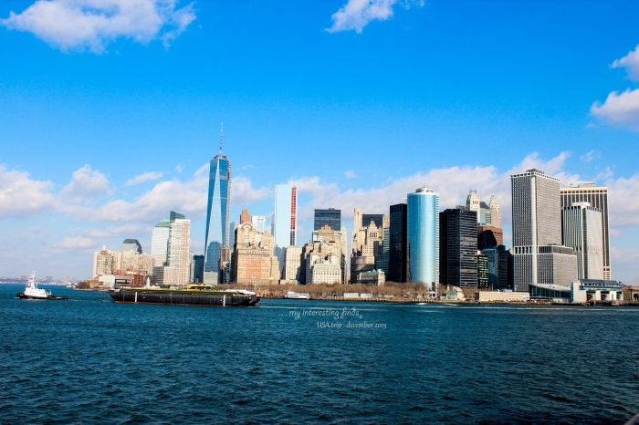 view of Manhattan from the sea